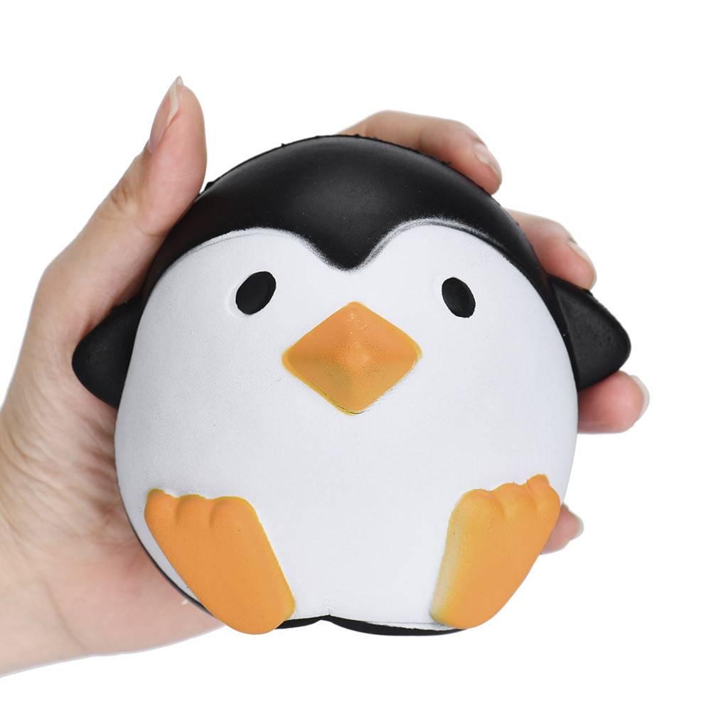 12 CM anti stressbal Squeeze Speelgoed kawaii jumbo squishy speelgoed trage stijgende dieren pinguïn