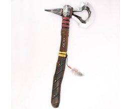 Creed III 3 Connor's Kenway DELUXE PU Tomahawk Hatchet Prop Wapen Speelgoed Bijl Cosplay Kinderen Replica Kostuum accessoire