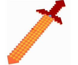 Stijl Kleurrijke Minecraft Zwaard 76*20 cm Bestevoor Kids Jongens Meisjes baby speelgoed minecraft gun & diamond outdoor speler