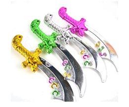Halloween Piraat Slagzwaard Kind Plastic Mes Zwaard Speelgoed voor Jongen, willekeurige Kleur