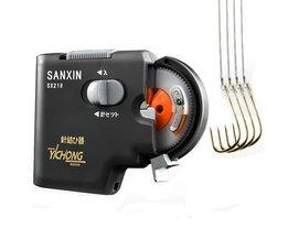 Draagbare Metal ABS Automatische Elektrische Haak Tier Machine Voor vishaken Vishaken & Vislijn Tier apparaat Visgerei
