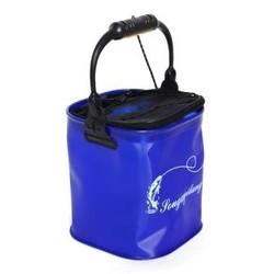 MyXL Outdoor Emmer Vat Water Container Visgerei Camping Opvouwbare EVA Touw Riem Vissen Bag Inklapbare Wandelen Blue