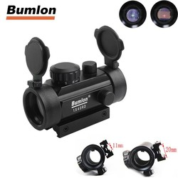 MyXL Tactische Hunting Rifle Airsoft Holographic Sight Scope 1X Kruis Haar Red Dot Sight Riflescope 11 20mm Weaver Rail Mount HT5-0024