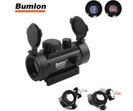 Tactische Hunting Rifle Airsoft Holographic Sight Scope 1X Kruis Haar Red Dot Sight Riflescope 11 20mm Weaver Rail Mount HT5-0024