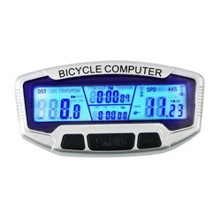 MyXL Digitale Lcd-scherm Fietscomputer Fiets Kilometerstand Snelheidsmeter Blauw Backlight Thermometer Klok + Stopwatch Fietsen Accessoires