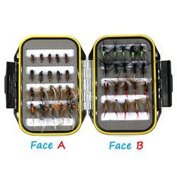 MyXL [40 stks/set] kosteneffectieve Nat Droog Nimf Vliegvissen Lokken Box Set Vliegbindset Materiaal Aas Nep Vliegt voor Forel Grayling Panfish