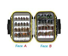 [40 stks/set] kosteneffectieve Nat Droog Nimf Vliegvissen Lokken Box Set Vliegbindset Materiaal Aas Nep Vliegt voor Forel Grayling Panfish