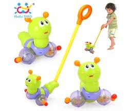 HUILE SPEELGOED 686 Baby Speelgoed Push & Pull Baby Wandelingen Speelgoed Worm Horizontale Slide Zuigeling Kids Vroege Ontwikkeling Enkele Staaf Hand Geduwd