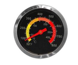 Rvs BBQ Roker Grill Thermometer Temperatuurmeter 50-800 Graden Fahrenheit 10-400 Graden Celsius