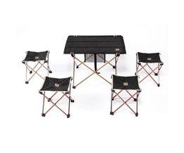 Outdoor Klaptafel Camping Aluminium Picknicktafel Waterdichte ultralichte Duurzaam Klaptafel Bureau Voor Picknick