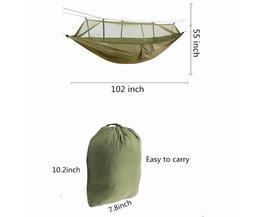 (Groen) Extra Hoge Draagbare Sterkte Stof Klamboe Camping Hangmat Lichtgewicht Opknoping Bed Duurzaam Packable Reizen Bed