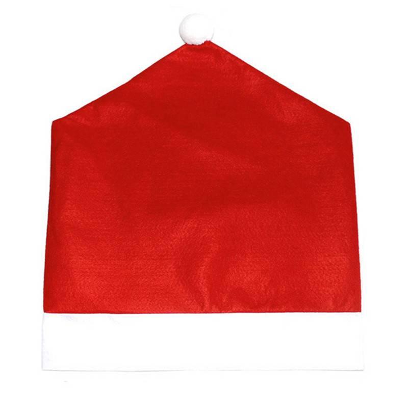 4 Stks Mode Kerst Stoel Achterkant Kerstman Rode Hoeden Decoratie Voor Stoel Cover Eettafel Voor Bru