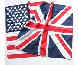 100% Polyester Amerikaanse Britse Vlag Bandana Party Zakdoek Mannen Dames Vierkante Hoofddoek Halsdoek SUJASANMY TJ9038