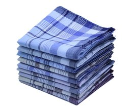5 Stks/partij Vierkante Plaid Streep Zakdoeken Mannen Klassieke Vintage Pocket Hanky Pocket Katoenen Handdoek Voor Wedding Party 38*38 cm Willekeurige