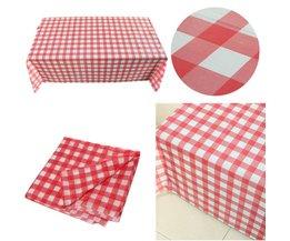 1 STKS 180 cm * 180 cm Rode Pastel Plastic Wegwerp party Tafelkleed Tablecover Voor Party Outdoor Picknick BBQ