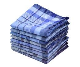 5 Stks/partij 38*38 cm Katoen Plaid Vierkante Streep Zakdoeken Mannen Klassieke Patroon Vintage Pocket Hanky Zakdoeken Willekeurige Kleur