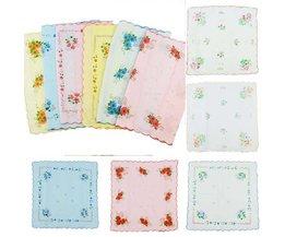 Gloed12 Stks 100% Katoen Bloem Vintage Zakdoeken Quadrate Zakdoeken voor Vrouwen