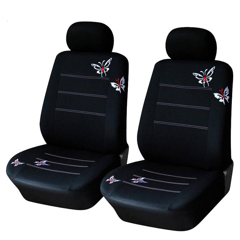 Auto Styling Vlinder Geborduurde Autostoel Cover Elastische Bescherming Auto Front Stoel Protector K
