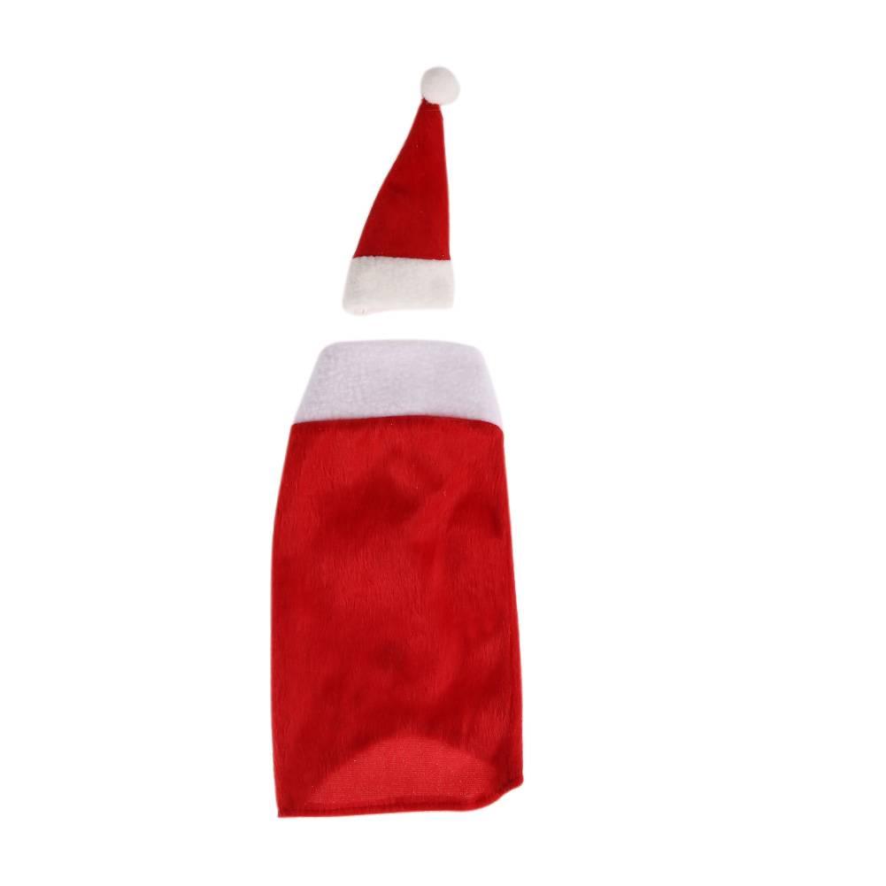 Kerst Zak Rode Wijnfles Cover Tas cap Kerst Tafel Decoratie Thuis Party Decors Kerstman Kerstversier