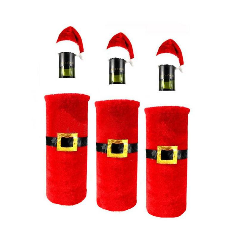 1 Set Onderscheiden Kerst Kerstman Kleding Wijnfles Cover Mooie Decor Nieuwjaar Decoratie