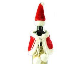Kerst Wijnfles Set Kerstman Knop Decor Fles Cover Cap Kleding Keuken Decoratie voor Nieuwjaar Xmas Etentje