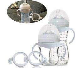 1 ST Zuigfles Grip Handvat voor Avent Natuurlijke Brede Mond PP Glas Melk fles Babyvoeding Veiligheid Gates wit