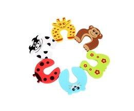 5 stk/partij Animal Jammer Baby Kid Kinderen Veiligheid Zorg Bescherming Siliconen Gates Deuropeningen Decoratieve Magnetische Deurstopper Gates
