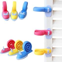 MyXL Plastic Baby Hek Deur Clip Winddicht Draaibaar Kinderkamer Slakken Doorstop Infant Leuke Veiligheid Protector Doorway