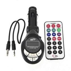MyXL NieuweAuto Mp3-speler Draadloze Fm-zender Modulator USB CD MMC Remote 206 FM channelsDrop&