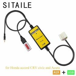 MyXL SITAILE USB AUX auto MP3 muziek cd-speler Adapter machine veranderen voor Honda accord civic CRV Acura CSX MDX RDX Interface auto kit