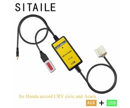 SITAILE USB AUX auto MP3 muziek cd-speler Adapter machine veranderen voor Honda accord civic CRV Acura CSX MDX RDX Interface auto kit