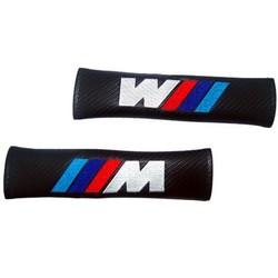MyXL 2X Styling Auto Koolstofvezel Veiligheid Gordel Cover///M Schouder Pad voor BMW X5 X6 E90 E91 E92 E93 M3 E60 E61 F10 F30 M5 E63 E64