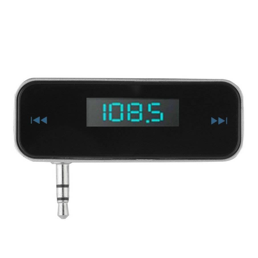 Draadloze 3.5mm Auto Fm-zender met auto-oplader met USB kabel mp3 mp4 cd dvd radio am fm alle mobiel