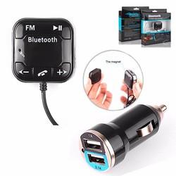 MyXL versie BT-760 Handsfree Carkit Draadloze Bluetooth Fm-zender Auto Mp3-speler USB lader Auto Audio