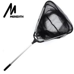 MyXL MEREDITH 90 cm Vouwen Visnet Intrekbare Telescopische Aluminium Pole Super Grote Opvouwbare Schepnet