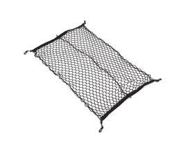 100 cm x 70 cm Zwart Nylon Kofferbak Netto Bagage Organizer Achterlichten Mesh Netwerk Met 4 haken