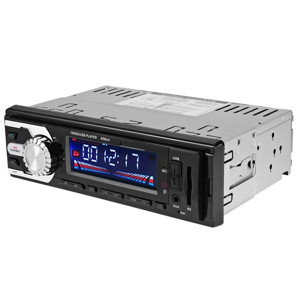 Auto Auto Stereo FM Radio AUX Audio Mp3-speler In-dash Single Din Bluetooth Microfoon 12 V SD USB Ca