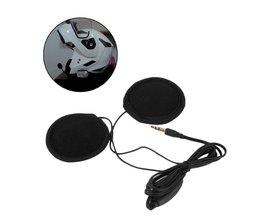 3.5mm Motorbike Motorhelm Stereo Luidsprekers Hoofdtelefoon Volumeregeling Oortelefoon voor MP3 GPS Telefoon Muziek