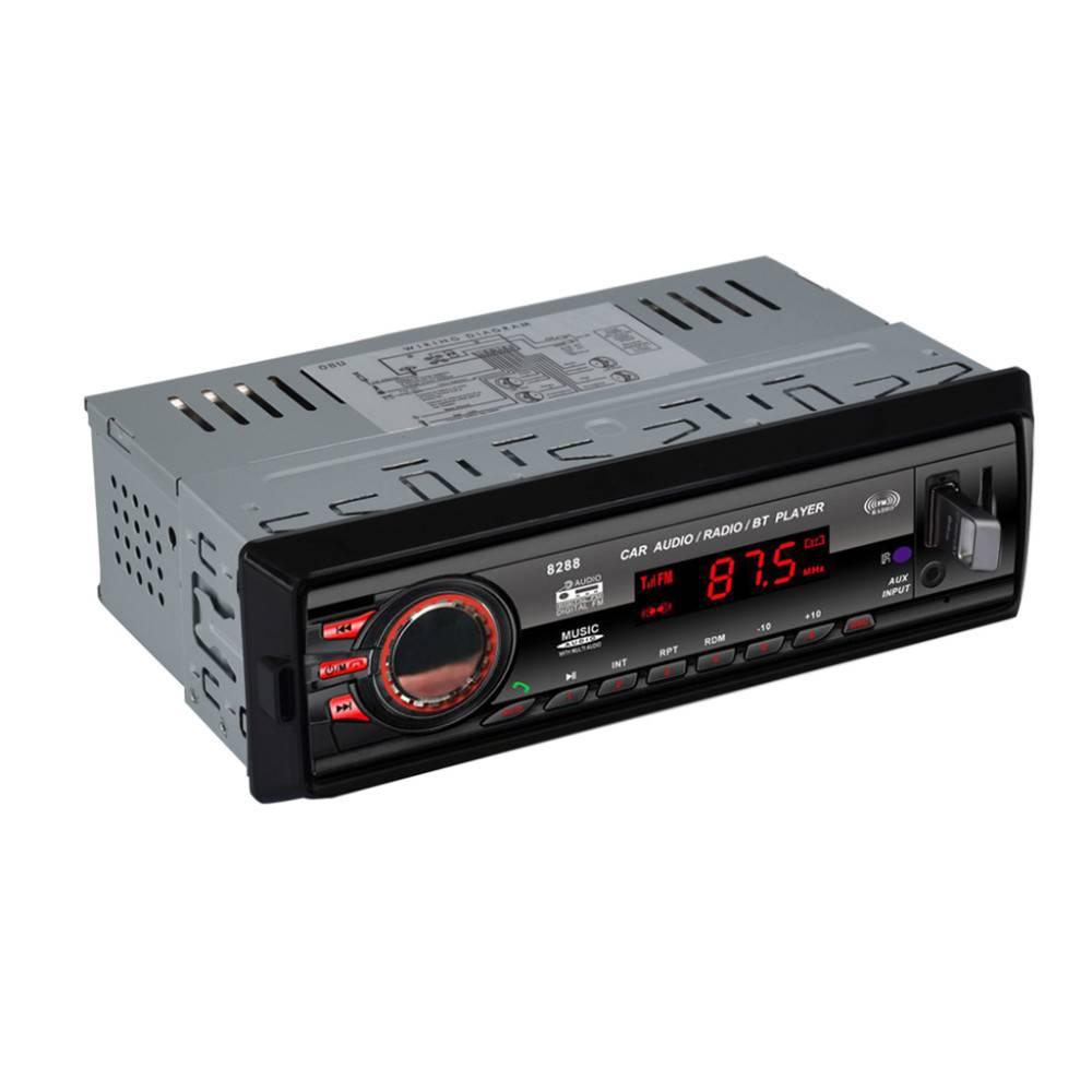 8288 Bluetooth 1 DIN Auto Audio FM Radio Stereo Digitale Media AUX-IN Mp3-speler Ontvanger SD MMC US