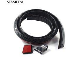 1.5 M Universele Auto Spoiler Carbon Achterspoiler Dak Vleugels kofferbak Lip 3D Sticker Kit Staart Rubber Body Trim Auto accessoires