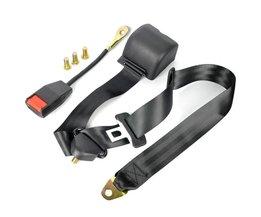 1 x Universele 3 Punt Autogordels Auto Singels Gesp veiligheid Gordel 3.2 m Intrekbare Extension Autostoeltje Heupgordel Kit