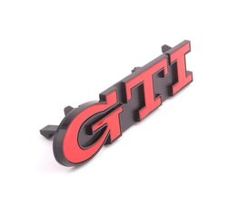 YAQUICKA Auto 3D Rode ABS GTI Voor Emblem Grille Grill Badge Voor Volkswagen GTI Polo GOLF Golf MK2 MK6 Auto-styling Accessoire