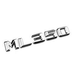 "MyXL Chrome Shiny Zilver ""ML 350"" Kofferbak Achter Letters Woord Badge Embleem Brief Decal Sticker voor Mercedes Benz ML Klasse ML350"