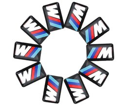 10 xtec sport wheel badge 3d emblem sticker decals logo voor b-mw m serie M1 M3 M5 M6 X1 X3 X5 X6 E34 E36 E6 auto styling stickers