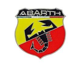 1 stks Auto Styling 3D Metalen Auto sticker Schorpioen Emblemen Voor Auto Accessoires Abarth Sticker Auto Abarth Decal Lijm Badge