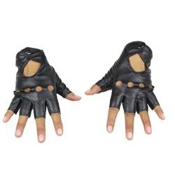 MyXL LongKeeper Mode Zwart PU Half Vinger Rijden Tonen Vrouwen Handschoenen Punk Jazz Vingerloze Handschoenen Voor Vrouwen Luva Guantes G222
