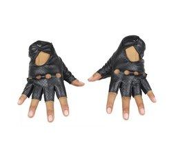 LongKeeper Mode Zwart PU Half Vinger Rijden Tonen Vrouwen Handschoenen Punk Jazz Vingerloze Handschoenen Voor Vrouwen Luva Guantes G222