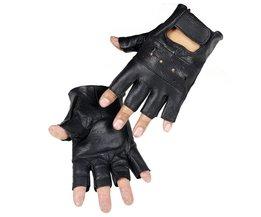 LongKeeperStijl Mens Schapen Leer Rijden Handschoenen Fitness Handschoenen Half Vinger Tactische Handschoenen Zwart Guantes Luva G232