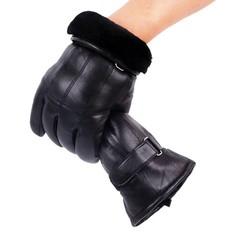 MyXL Heren Real Lederen Handschoenen Winter Handschoenen Lederen Trendy Schapenvacht Gentmen Luvas Guantes Mujer Winter NieuweThicken Handschoen