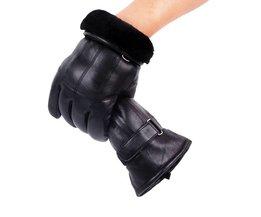 Heren Real Lederen Handschoenen Winter Handschoenen Lederen Trendy Schapenvacht Gentmen Luvas Guantes Mujer Winter NieuweThicken Handschoen